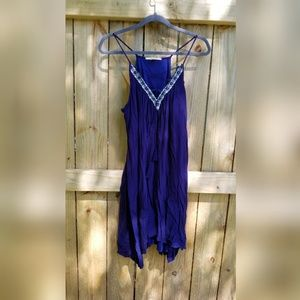 Rayon navy blue dress